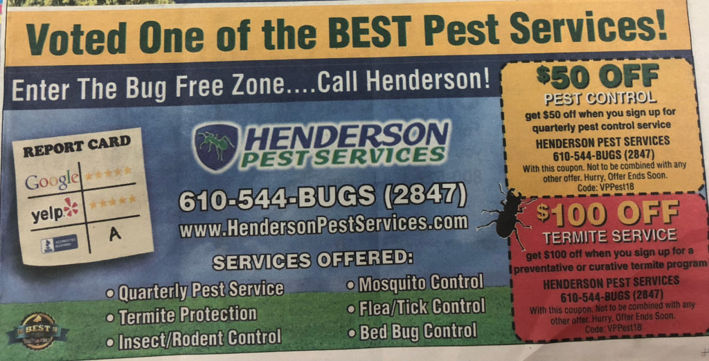 Pest Services in the Delco Daily Times